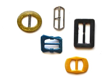 Buckled - Vintage Celluloid and Metal Buckles