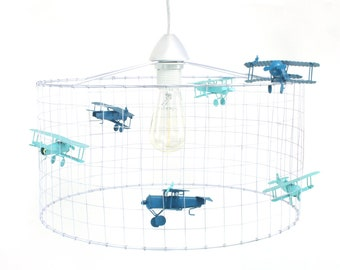 Hanging lamp children's room airplane-hanging lamp airplane-lamp Boys Room-Ø40cm-Voliere By Olivier & Sofie-We Ship All Over The World!