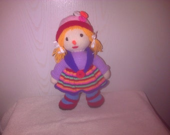 Hand Knitted  Scarecrow 12 inches tall 3 to choose from