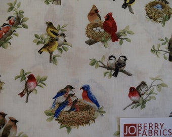 Beautiful Birds by Tracy Lizotte for Elizabeth's Studio,  Quilt and Craft Fabric,  Fabric by the Yard.