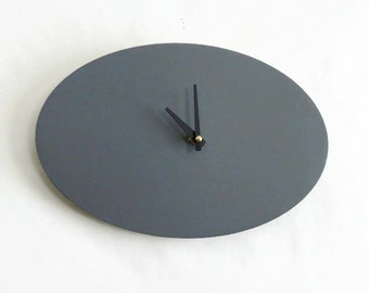 Modern Wall Clock, Wood Clock, Gray Home Decor, Home and Living, Decor and Housewares