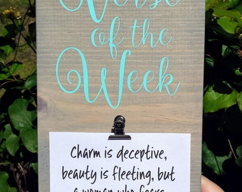 Verse Of The Week Sign, Verse of the Week Board, Verse Of The Week, Bible Verse Of The Week, Scripture Of The Week, Bible Study Gift