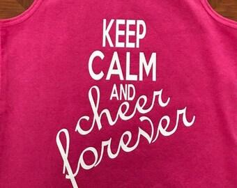 Keep Calm Cheer tank custom