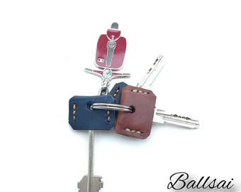 Sales!! 3+1 Leather Key Caps- 10.50E/ Leather Key Toppers, Leather Key Cover, Leather Key Sleeve
