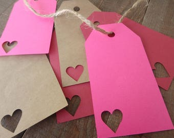40 Heart Tags , Valentines Day Tags , gift Tags