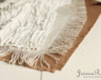 Layering Set Burlap Set Photography Prop Newborn Baby Photo Prop Newborn Photography Props for Newborn Photography Baby Picture Props