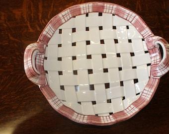 Ceramic Picnic Red Basket