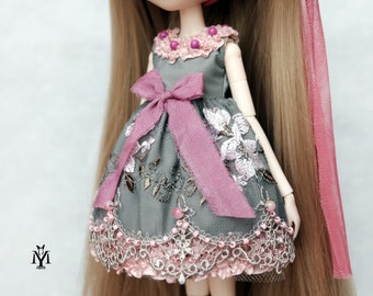 "Pullip dress / Blythe dress ""Prickly Rose"""