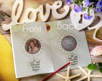 Bridal bouquet charm,  photo charm, handwriting charm