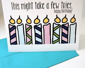 Funny Birthday Card - Lots of candles