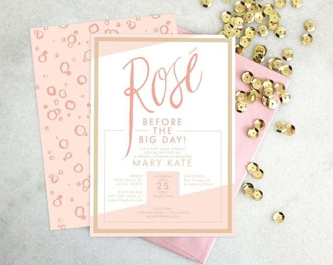 PRINTABLE Bridal Shower Invitation | Rosé