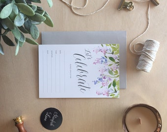 Fill In Invitation, Celebrate - Wisteria, Pack 10 including envelopes