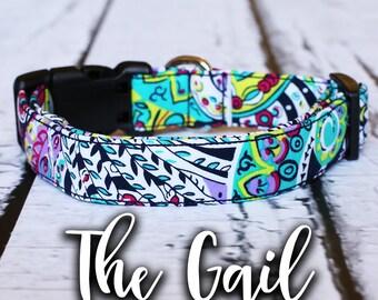 """Dog Collar- Tribal Dog Collar, Chic Dog Collar, Boho Dog Collar, Girl Dog Collar, Modern Dog Collar, Lilly Pulitzer, """"The Gail"""""""