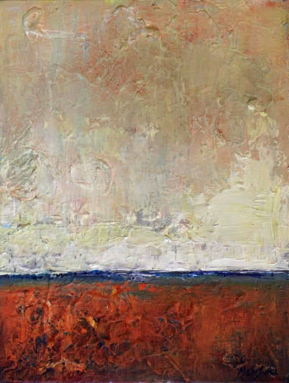 Abstract Minimalist  Art Painting ORIGINAL Artwork Modern decor 16x12  by BenWill