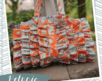 Izzy & Ivy Designs Petunia Purse, ruffled bag pdf sewing pattern