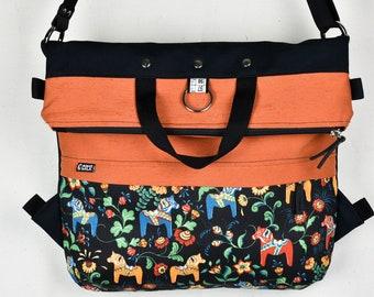 Ginger Backpack bag Spring 2018 shoulder Strap carabiners Medium large big bag lining pocket messenger Foldover Bags