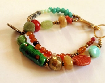 Double Strand Colorful Beaded Bracelet