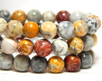 6mm Sky Eye Jasper Gemstone Beads, Sky Eye Jasper Beads, 6mm Jasper, 6mm Gemstones, Colorful Beads, Sky Eye Jasper Gemstones, Jasper, B-38C