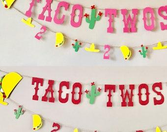 Taco Twosday, taco bar banner, taco banner, taco decor, fiesta banner, fiesta party, taco party, cactus party, Taco twosday party
