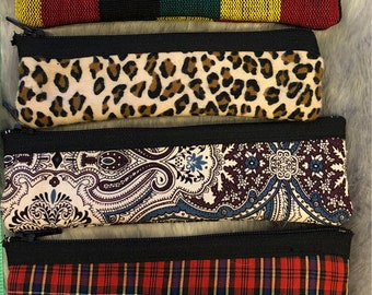 Slim pouch zipper bag