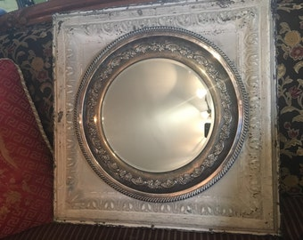 Cottage Chic -Ceiling Tin Mirror
