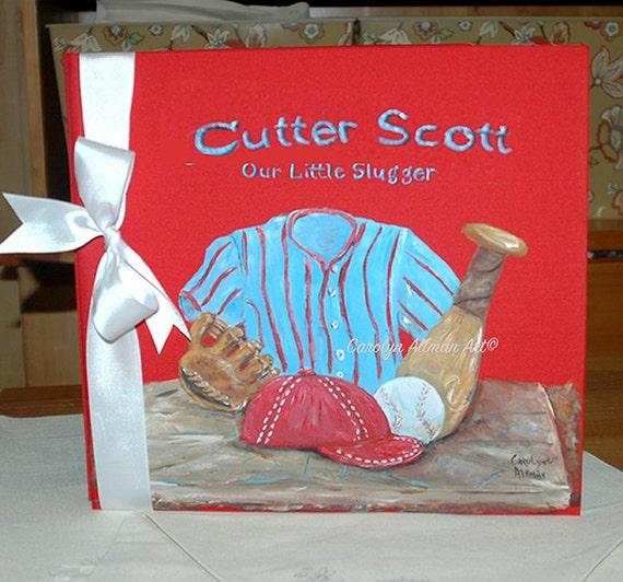 Little Baseball Dreams Baby Memory Book New Design