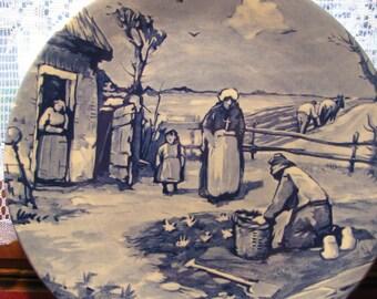 Delft April Plate Calendar Series, Vintage
