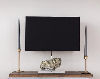 Pyrite Table Lamp // Designer Mineral Specimen Table Lamp (L9)