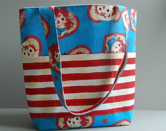 Raggedy Ann & Andy Diaper Bag ~ Ready to ship (imperfect)