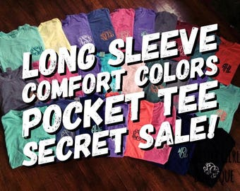 LONG SLEEVE Comfort Colors Sale, Comfort Colors TShirt, Monogram Comfort Colors Tee, Personalized Comfort Colors, Gifts for Friends