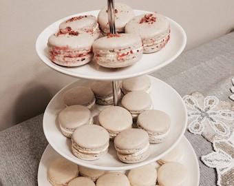 French Macarons , 1 dozen, edible macarons , raspberry macarons, lemon macarons , vanilla macarons , chocolate macarons!