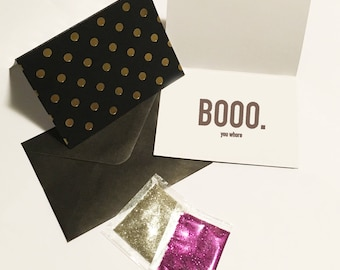 Mean Girls glitter bomb card // Funny Gift // Prank Gift // Glitter // Rude Glitter Bomb Card // Funny Friendship // Enemy Card