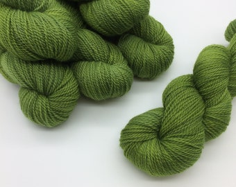 Peridot // Hand dyed yarn // Blackbeard Fingering Yarn - 100gm //