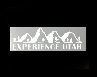 Snowboarding - Experience Utah Vinyl Sticker
