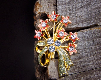 Apricot Flower Brooch #5461