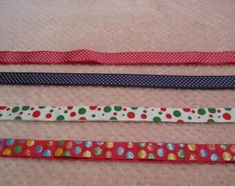 4 Yards/ One of Each Color Polka Dot Grosgrain Ribbon