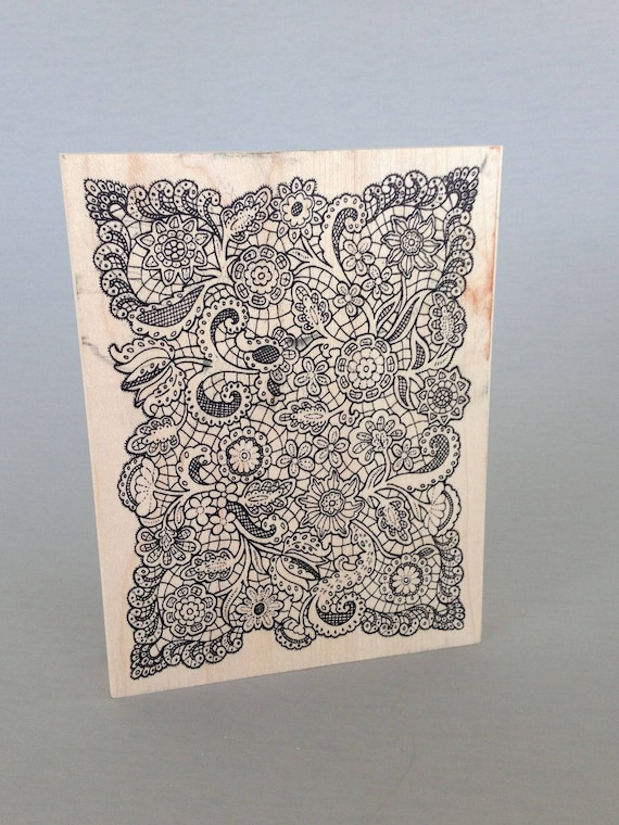 floral lace stamp great for polymer clay and other crafts, offers a great lacey, floral groovy, bohemian look