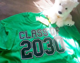 Class of 2030 or 2031 or 2029...for kids starting Pre-K or Kindergarten also optional print on the back Grades K through 12th for Handprints