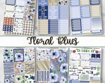 Floral Blues Vertical Kit