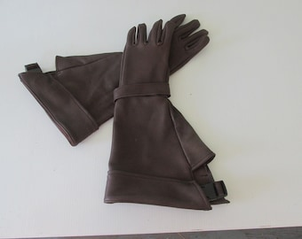 Captain America Style Dark Brown Gauntlet Gloves - Made in the USA