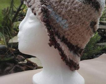 Crochet brim hat