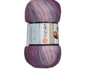 Yarn Art Angora Active Knitting Yarn, Variegated Colors - 847