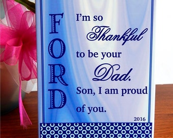 Son Gift from Dad - Mom - Gifts for Daughter Personalized.