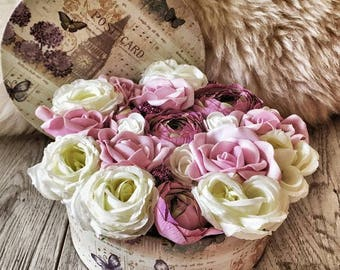 Flowers in a box,flower box,artifical flower,roses box,special gift