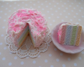 Miniature Rainbow Cake
