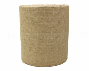 """100 Yards - 12"""" Natural Burlap Roll - Industrial Grade - Unfinished Edges - Eco-Friendly Natural Jute Burlap Fabric - Tight Weave - 12 Inch"""