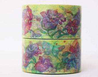 Design Washi tape flower Purple masking tape