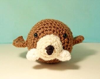 Amigurumi stuffed walrus