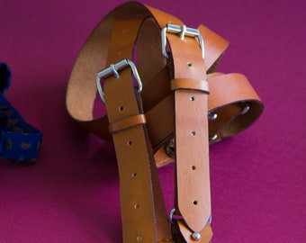 Man fully leather straps