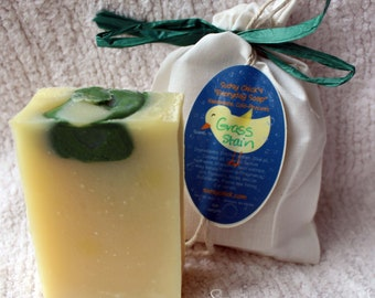 """Grass Stain scented """"Everyday Soap"""" Handmade Cold Process Homemade"""